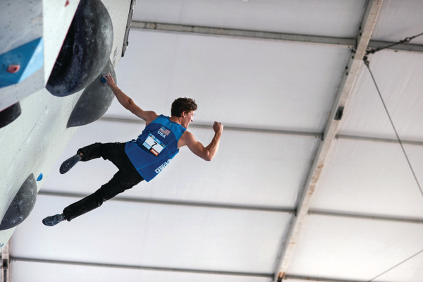Nathaniel Coleman is having a successful climbing career. Coleman won two national championships in bouldering earlier this year and hopes to compete in the 2020 Tokyo Olympic Games. (Andy Wickstrom)