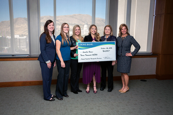 Animal-Assisted Healing Center was awarded a $3,000 Smart Women Grant for its efforts to help people via animal-assisted therapy. (Zions Bank)