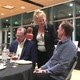 Lynda Brown, KidsEat! founder, stands between donors Don McKean and Gordy Peifer at Gallivan Hall on Nov. 12. (Travis Barton/City Journals)