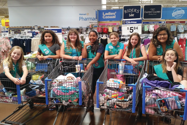 "For their Bronze Award, members in troop 2235 worked together on their project, ""Making a Change for Utah Refugees,"" raising money to buy and deliver clothing to the refugees. (Tammie Ynda/Girl Scout volunteer)"