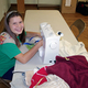 "Cadet Girl Scout Abigail Slama-Catron created a ""Sewing for Service"" day and invited sewing students from schools in six communities, along with 4H and Girl Scout volunteers, to sew 180 bibs for Jordan Valley School for her Silver Award project. (Scott Catron/Girl Scout volunteer)"
