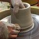 Thumb pottery throwing demo chester county chester springs studio