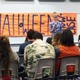 Senior Breckly Conner performs her slam poetry at the Halloween Showcase. (Jet Burnham/City Journals)