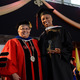 La Roche College President Sister Candace Introcaso and graduate Greer Reed