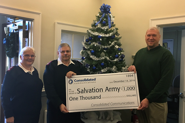 Salvation Army-Butler Corps  Receives Donation