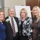 Corporate Philanthropist of the Year Raymond Streib, founder of Development Facilitators, Inc., Michele Wedemeyer, Phyllis Streib, and Lisa Martel