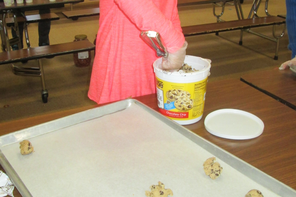 The cookie-making station was popular with Hillendale students.