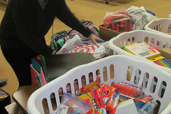Hillendale students collected school supplies destined for La Communidad Hispana.