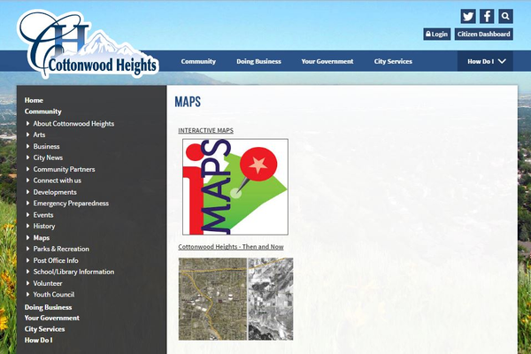 To access the interactive maps discussed in this article, visit the Cottonwood Heights website and follow the directions described at the bottom of this article to this linked page. (Cottonwood Heights)