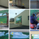 The progression of the mural from start to finish
