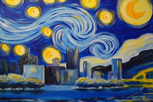 Paint Monkey 'Yinzer Starry Night'