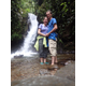 Mary and Tyler McFarland in the waterfalls of Ecuador. (Mary and Tyler McFarland)