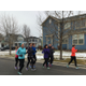 Residents Becky Lundberg, Shauna Ball, Lisa Ashton, Julie Mederios, Laurene Finch, Corinne Hubbard, Melonie Carson and Andrea Madsen run in freezing temperatures in South Jordan (Mylinda LeGrande/City Journals)