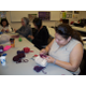 Students can now search the internet for crocheting patterns using the computer skills taught at the FLC. (Josefina Swensen/Family Learning Center)