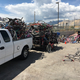 Bicycle Collective picks up a bicycle load from the Trans-Jordan Landfill. To date, Trans-Jordan has donated 6.9 tons, or 13,796 pounds, of bikes, an equivalent of 488 bikes. (Mark Hooyer/Trans-Jordan Landfill)
