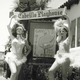 """Showgirls promote the """"Gay Nineties Review"""" in front of the new theatre."""