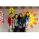 The Chinese dual language teachers wore traditional attire for the celebration. (L-R): Nana Zhao, Peru Hsieh Chen, Liping Zheng and Qian Li. (Ridgecrest PTA Facebook)
