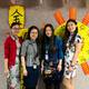 The Chinese dual language teachers wore traditional attire for the celebration. (L-R): Nana Zhao, Peru Hsieh Chen, Liping Zheng and Qian Li. (Ridgecrest PTA Facebook)
