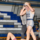A Corner Canyon wrestler walks away after winning his match. (Jeff Eure/Corner Canyon Wrestling)