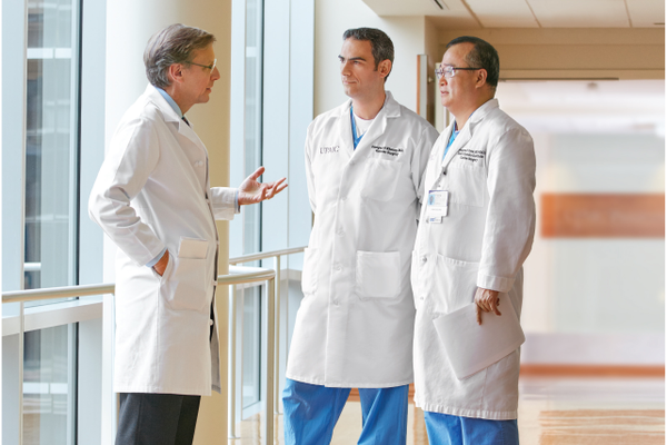 Michael A. Fallert, MD, FACC, cardiologist; Georges Al-Khoury, MD, vascular surgeon and Pyongsoo Yoon, MD, cardiac surgeon