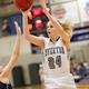Senior Megan Krahenbuhl has never missed the state tournament as a member of the Silverwolves' girls basketball team. (Dave Sanderson/dsandersonpics.com)