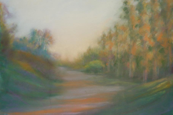 "Second place winner ""Jogging Trail at Sunset"" by Sue Ann Sinay"
