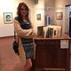 Cassandra Parkin with her award-winning piece at the Springville Museum of Art Exhibit. (Christine Fedor/Copper Hills High School)