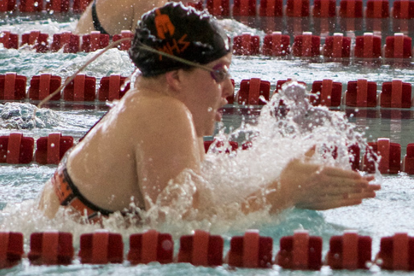 Senior Maddie Flower earned second- and fifth-place finishes at the 4A state swim finals. (Travis Barton/City Journals)
