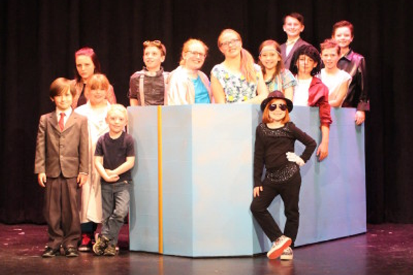 "One of CSP's performances called ""Bucky Goldstein, Time Traveler"". (Center Stage Players/CSP staff)"