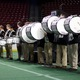 """Skyline High School Drumline plays the """"pregame entertainment"""" as part of a sports themed gala. (Travis Barton/City Journals)"""
