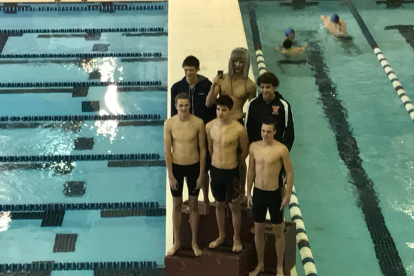 Granger senior Benjamin Zulcic took fourth place in the 50-yard freestyle at Region 2's state qualifier (pictured lower center). (Greg James / City Journals)