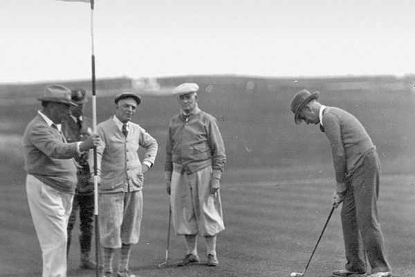 Former Mayor and Chief of Police playing golf in 1930.