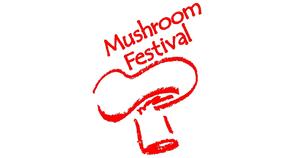 Medium mushroom festival logo