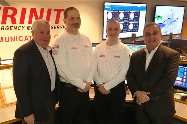From Left to Right: Gary Sepe Vice President, Jon Kelly Director of Communications & IT, Chris Archambault Asst. Director of Communications, John Chemaly President
