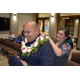 Lautaha is introduced as the newest Cottonwood Heights Police Department officer. His wife drapes a ceremonial lei around him after she pins on his badge. (Dan Metcalf/Cottonwood Heights)