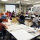 Students craft artwork with supplies provided by the district. (GSD website)