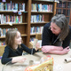 Jan Nocita with a student in the Shaler North Hills library
