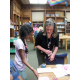 Jan Nocita with a student in the Shaler North Hills library.