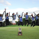 The Corner Canyon girls golf perfect their jumping freeze frame photo after winning the 4A state championship a year ago. (Debbie Connell/Corner Canyon girls golf)