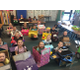 Elk Meadows kindergartners take part in the Kindy 500, where they first drove their cardboard vehicles around before learning about famous America sites in their classroom. (Julie Slama/City Journals)