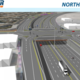 This is a bird's-eye rendering of what 11400 South and Bangerter Highway will look like from the northbound direction. Construction is scheduled to end in the Fall of 2018. (UDOT)