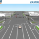 This rendering shows how 11400 South crosses Bangerter going eastbound. Construction will begin the end of May. (UDOT)