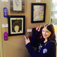 """Abby Worthen, 14, won honorable mention for children categories, with painting """"Selfie."""" (Mylinda LeGrande/City Journals)"""