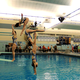 Lizzie Holmes dives at a competition last season. (Michelle Holmes)
