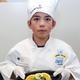 "Fourth-grader Ricardo Gonzalez, with his ""Zesty Alfredo"" dish. (Carla Dalton/Granite District Food Services)"