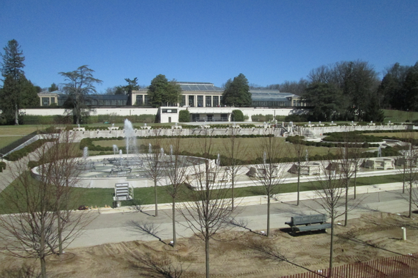 An upper walkway allows a new view of Longwood.