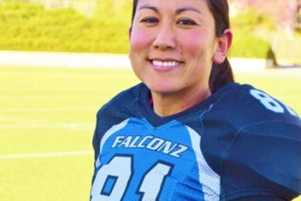 Elisa Salazar plays wide receiver and defensive back for the Utah Falconz. (Utah Falconz)
