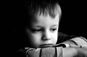 Medium sad child portrait