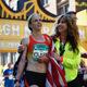 Clara Santucci, winner of the 2015 Pittsburgh Marathon, with Patrice Matamoros