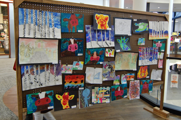 Art submitted by fifth- and sixth-grade classes. (Keyra Kristoffersen/City Journals)